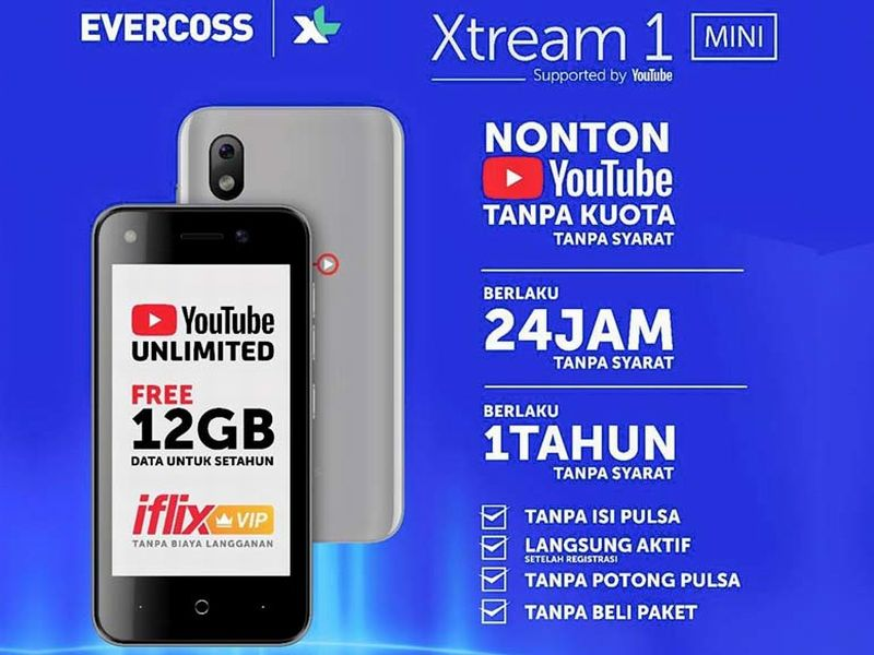Xtream 1 Mini Hp 500 Ribuan Gratis YouTube Setahun